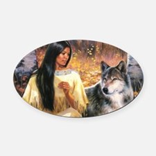 Grey Wolf.jpg Oval Car Magnet