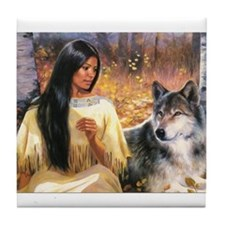 Grey Wolf.jpg Tile Coaster