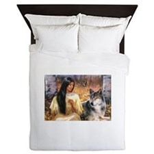 Grey Wolf.jpg Queen Duvet