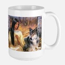 Grey Wolf.jpg Mugs