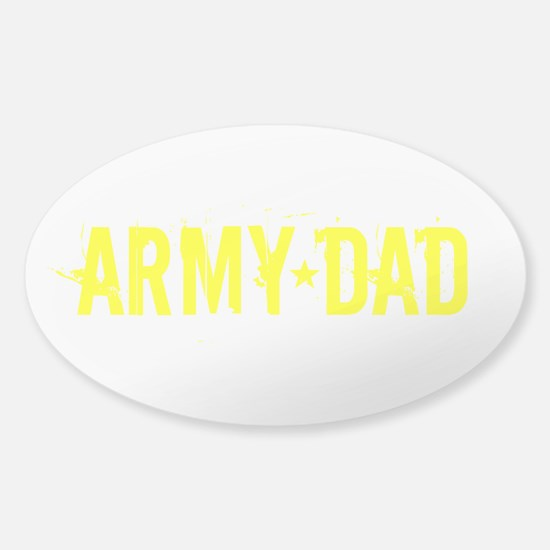 Army Dad: Gold Text Decal