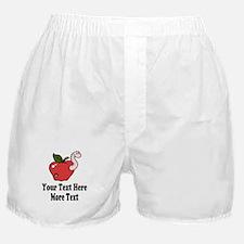 Red Apple Teacher Boxer Shorts