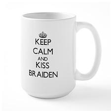 Keep Calm and Kiss Braiden Mugs