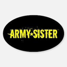 U.S. Army: Sister (Black & Go Decal