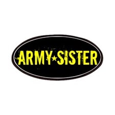 Army Sister: Gold and Black Patches