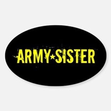 U.S. Army: Sister (Black & Gold) Sticker (Oval)