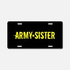 U.S. Army: Sister (Black & Aluminum License Plate