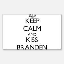 Keep Calm and Kiss Branden Decal