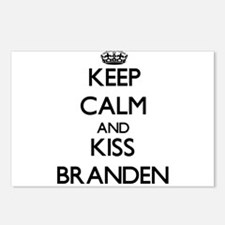 Keep Calm and Kiss Branden Postcards (Package of 8