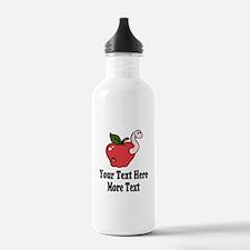 Red Apple Teacher Water Bottle