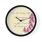 My Darling Wife Wall Clock