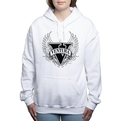 Ventura CA Dark Women's Hooded Sweatshirt