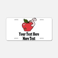 Red Apple Teacher Aluminum License Plate