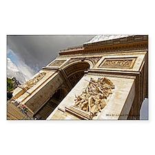 Arc De Triomphe Sticker (rectangle)