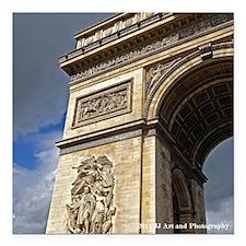 """Arc De Triomphe Square Car Magnet 3"""" X 3&quot"""