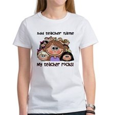 Teacher Rocks (brown hair) - Customize! T-Shirt