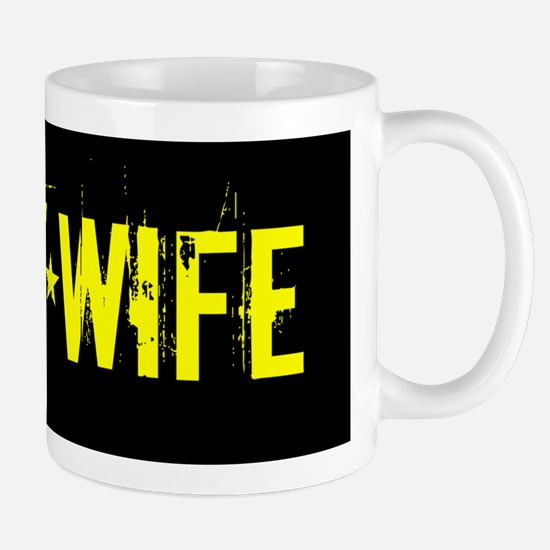 U.S. Army: Wife (Black & Gold) Mug