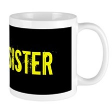 Army Sister: Gold and Black Mugs