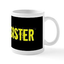 Army Sister: Gold and Black Mugs