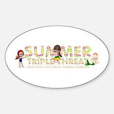 Summer Triple Threat Sticker (oval)
