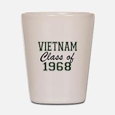 Vietnam Class of 1968 Shot Glass