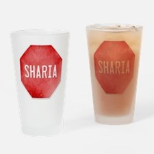 Stop Sharia Drinking Glass