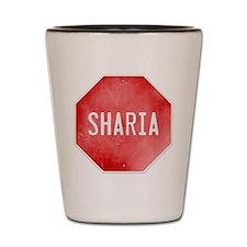 Stop Sharia Shot Glass
