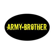 Army Brother: Black and Gold Oval Car Magnet
