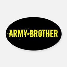 U.S. Army: Brother (Black & Gold) Oval Car Magnet