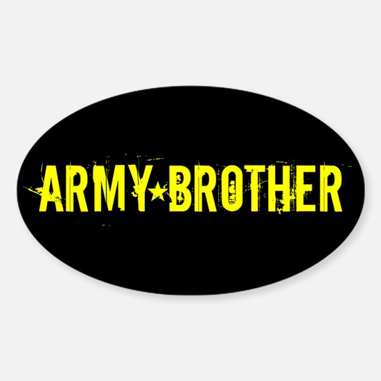 U.S. Army: Brother (Black & Gold) Sticker (Oval)