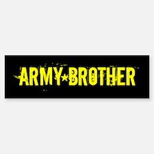 U.S. Army: Brother (Black & Bumper Bumper Sticker