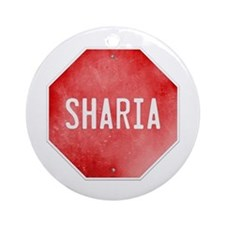 Stop Sharia Ornament (Round)