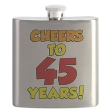 Cheers To 45 Years Drinkware Flask