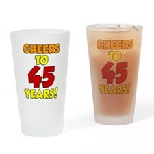 Cheers To 45 Years Drinkware Drinking Glass