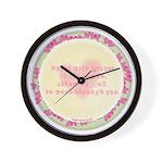 Begin with Prayer Wall Clock