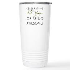 Celebrating 45 Years Drinking Glass Travel Mug
