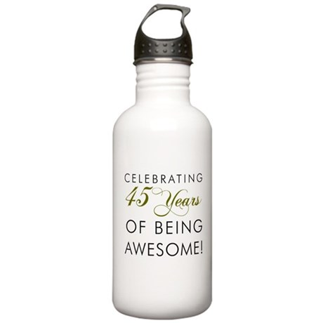 Celebrating 45 Years Drinking Glass Water Bottle