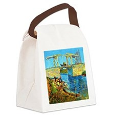 Van Gogh - The Langlois Bridge at Canvas Lunch Bag