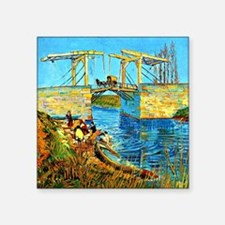 "Van Gogh - The Langlois Bri Square Sticker 3"" x 3"""