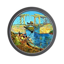 Van Gogh - The Langlois Bridge at Arles Wall Clock