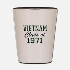 Vietnam Class of 1971 Shot Glass