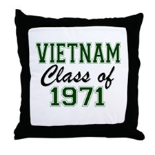 Vietnam Class of 1971 Throw Pillow