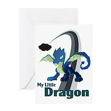 My Little Dragon Greeting Card
