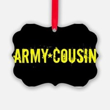 U.S. Army: Cousin (Black & Gold) Ornament