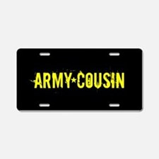 U.S. Army: Cousin (Black & Aluminum License Plate