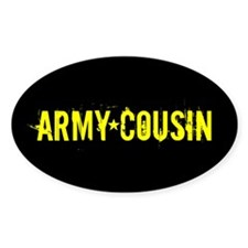 Army Cousin: Black and Gold Decal
