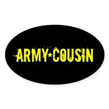 U.S. Army: Cousin (Black & Gold) Decal