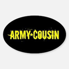 U.S. Army: Cousin (Black & Gold) Sticker (Oval)
