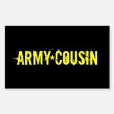 U.S. Army: Cousin (Black & Gol Decal