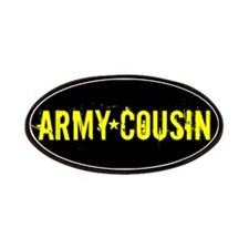 Army Cousin: Black and Gold Patches